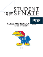Student Senate Rules and Regulations August 2013