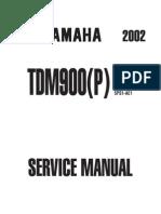 Yamaha TDM 900 Service Manual