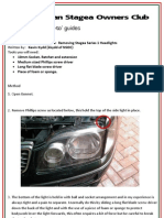 how to guide_removing stagea series 1 headlights