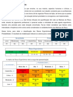INVESTIGAÇÃO DE AGENTES ERGÔNOMICOS