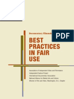 Documentary Filmmakers Statement of Best Practices in Fair Use - Association of Independent Video