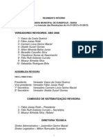 Camara Eunapolis Regimento Atualizado 2013