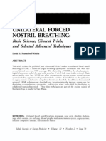 UNILATERAL FORCED NOSTRIL BREATHING Basic Science, Clinical Trials, And Selected Advanced Techniques; David S Shannahoff-Khalsa (Energies, Vol 12 No 2)