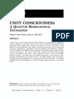 Unity Consciousness a Quantum Biomechanical Foundation; Thomas e Beck (Vol 14 No 3)