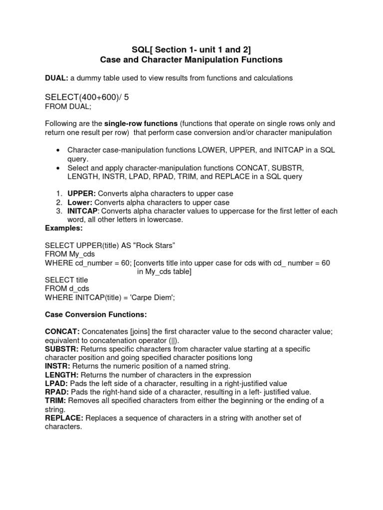 9abc9oct09 Letter Case Sql