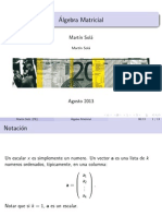 Beamer - Álgebra Matricial