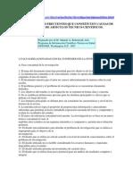 ALGUNAS FALTAS FRECUENTES QUE CONSTITUYEN CAUSAS DE RECHAZO DE ARTICULOS TECNICO-CIENTIFICOS.docx