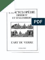 Encyclopédie Diderot & D'alembert - L'art Du Verre