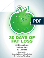 30 Days of Fatloss Cookbook