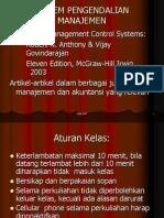 Silabi Sistem Pengendalian Manajemen