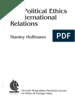 Stanley Hoffmann Ethics in IR