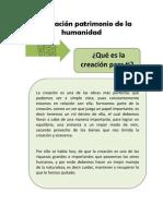La creación patrimonio de la humanidad.docx
