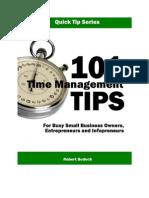 101 Time Management Tips for Infopreneurs