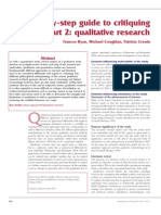 Ryan Coughlan Qualitative Research Critique