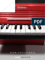 Sonic Couture DDR Toy Piano User Guide