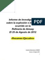 Resumen Ejecutivo Investigacion Accidente de Amuay (COENER)