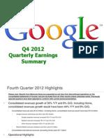 Martin Engegren Google Earnings q4 2012