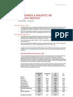 H&M Hennes & Mauritz Six Month Report 2012 Martin Engegren