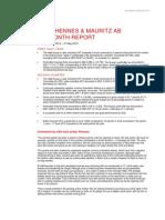 H&M Hennes & Mauritz Six Month Report 2013 Martin Engegren