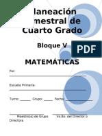 4to Grado - Bloque V - Matemáticas