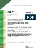 ITU-T 984.2 recomendation for fiber optics networks for 2.5Gbit/s applications