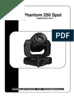Showtec Phantom 250 Spot Manual
