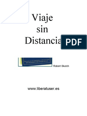 Viaje Sin Distancia Robert Skutch Science Psicoanálisis
