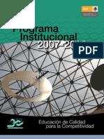 1 Programa Institucional 2007 2012