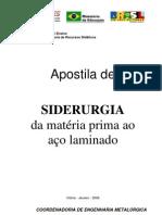 Siderurgia Da Mat Prima Ao Laminação (CEFET ES)
