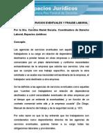Agencias de Servicios Eventuales y Fraude Laboral