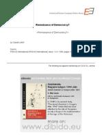 1.8 - Lefort, Claude - Rennaisance of Democrarcy¿ (EN)