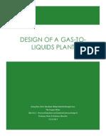 Senior Design Project - Gas-to-Liquids Plant Design