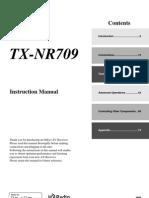 Onkyo TX-NR709 Manual