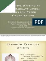 General Writing - Research Paper Organization - Presentation