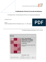1.6 - Lewin, David M. - The Body Politic. the Embodiment of Praxis in Foucault and Habermas (en)
