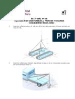 Actividad Nº 04. Equilibrio Mecánico de una partícula_Física I_USMP_Ciclo 2010 - II