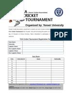 YCA Tournament Registration Form