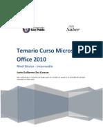Temario Microsoft Office 2010 - Backus