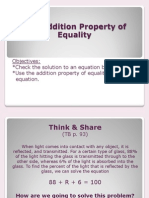2 2 addition property of equality