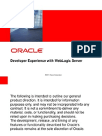 Developer Experience With WebLogic