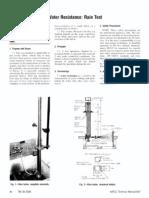 AATCC 35-2006 Water ResistanceRain Test