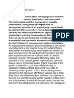 Role of Monetary Policy