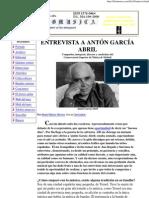 Entrevista a Anton Garcia Abril.