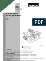Makita 2705 TableSaw Manual