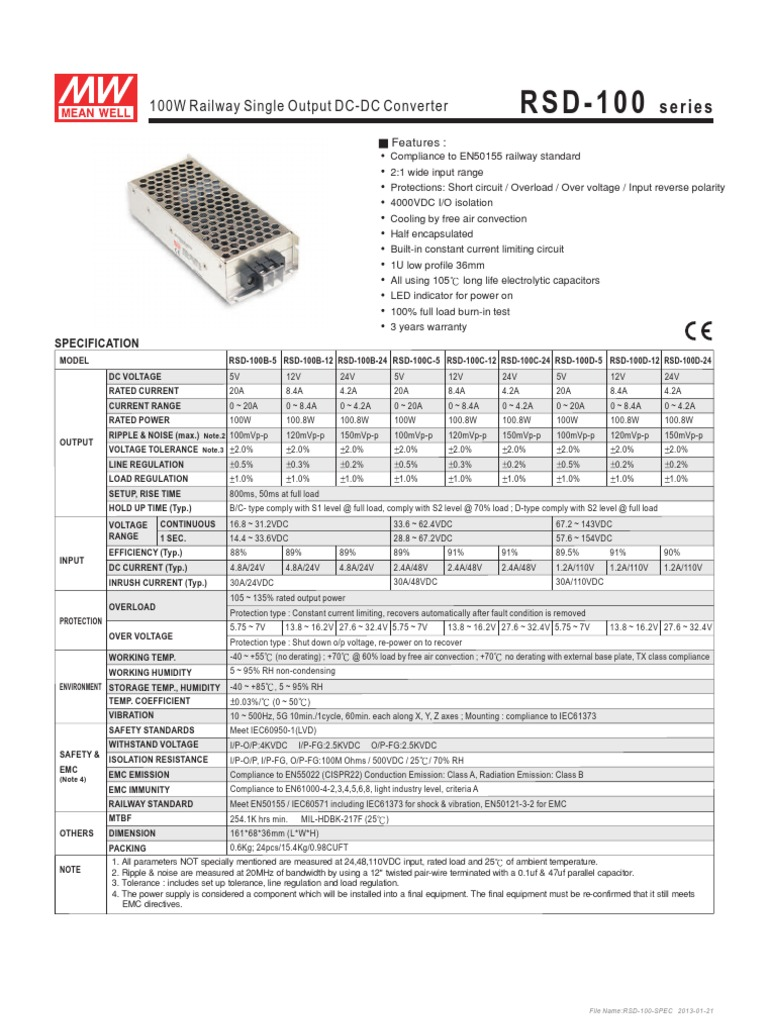 Rsd 100 Spec Power Supply Diode With Current Limiter And Stand Alone