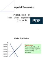 Lecture 4 - Concept of Market Equilibrium, Elasticity and Its Application
