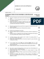 ICAP ECONOMICS Question Spring 2010