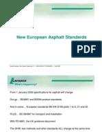 New European Asphalt Standards - Presentation