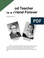 A Good Teacher is a Friend Forever