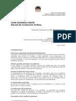J. D. PERÓN Manual de conducción política